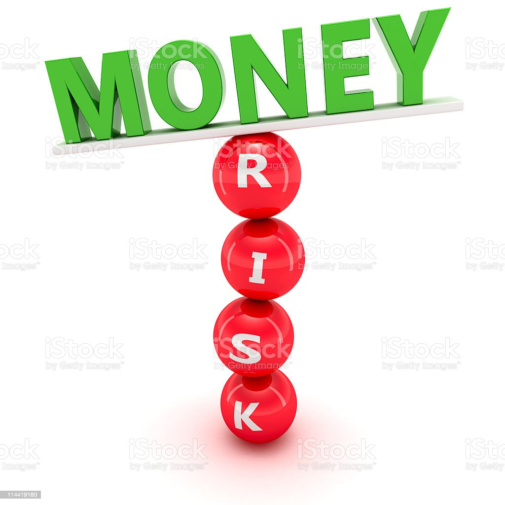 Fluctuations in financial market stock photo