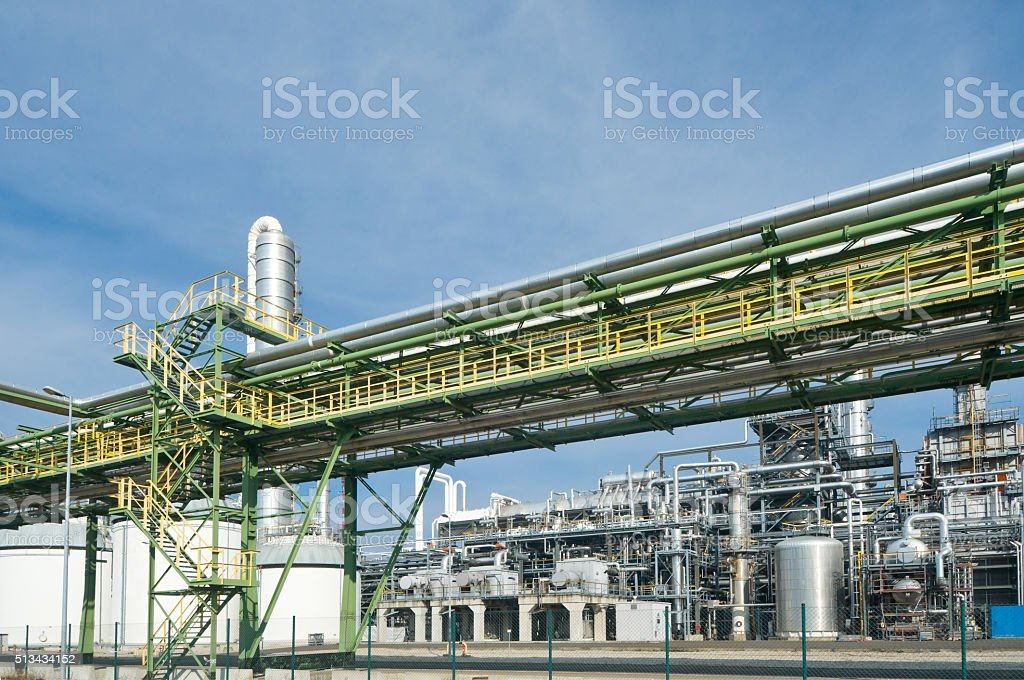 Flue gas desulfurization of a Lignite-fired power plant stock photo