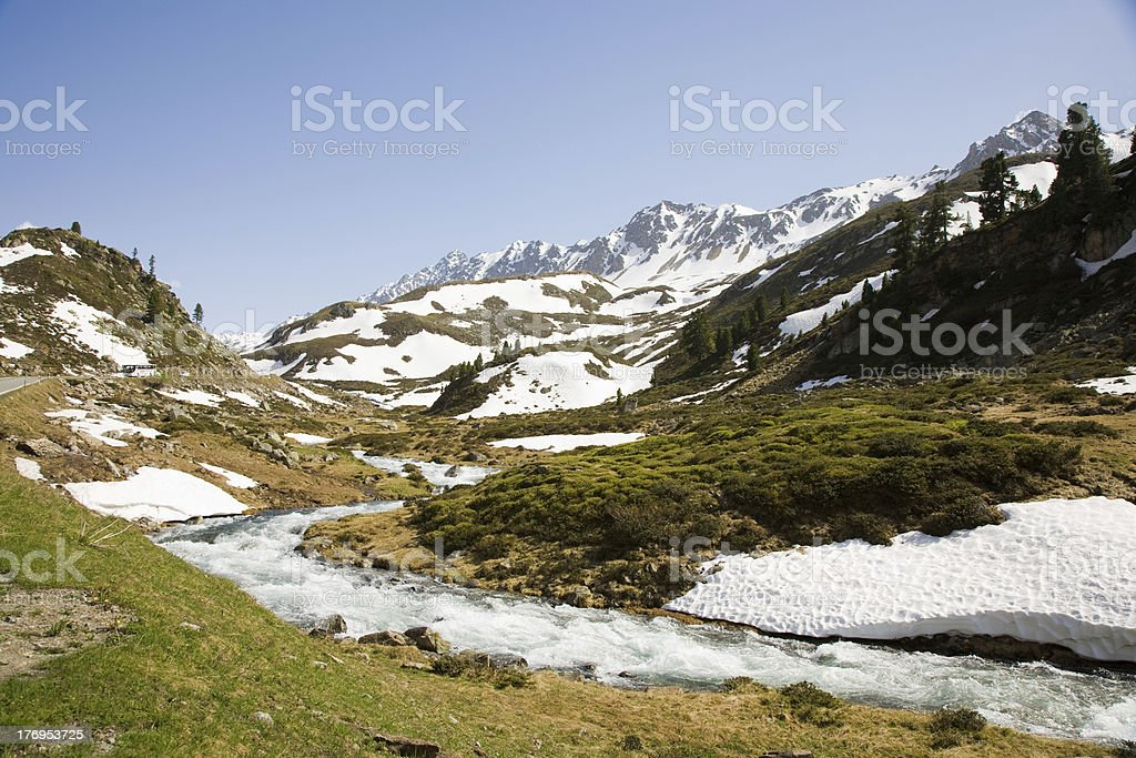 Flueela creek stock photo