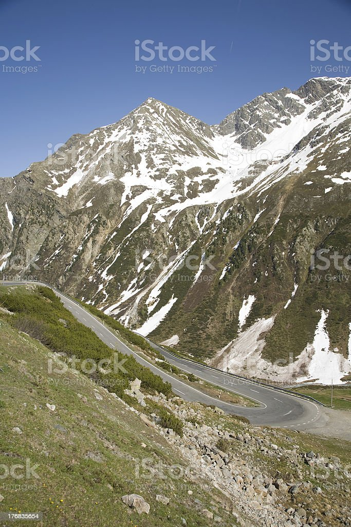 Flueela pass stock photo
