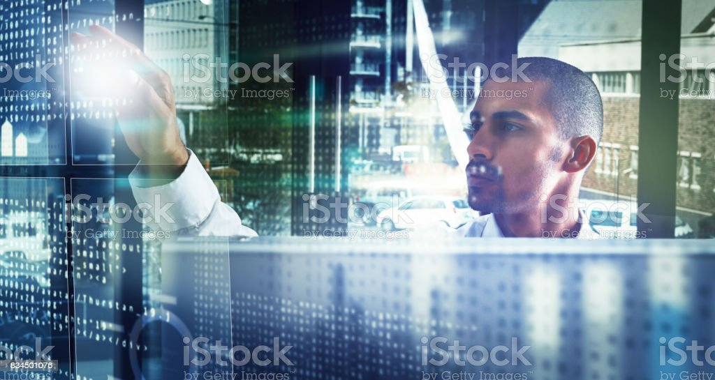 Fluent in all things IT stock photo