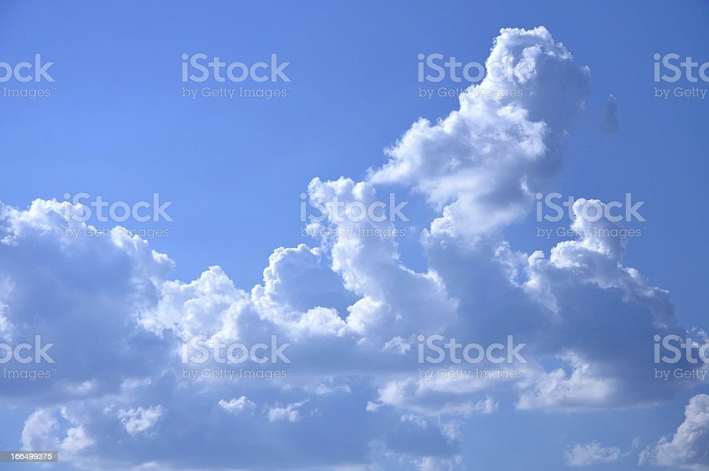 fluffy cloud in sky royalty-free stock photo