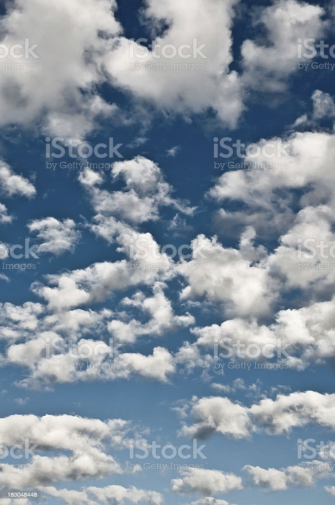 fluffy cloud sky vertical royalty-free stock photo