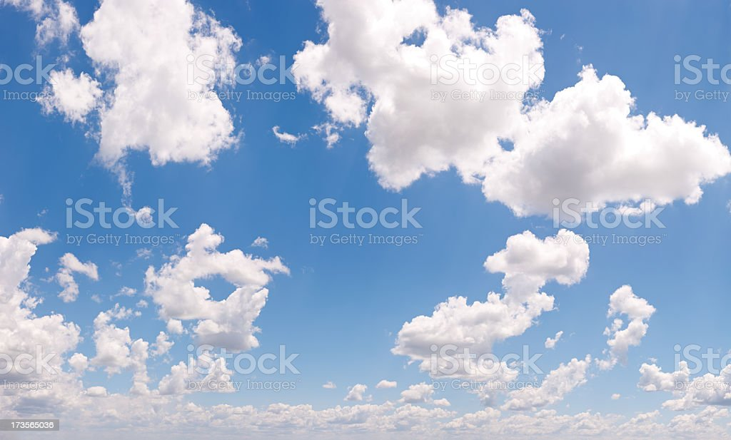 Fluffy Clouds Panorama XXL - 170 Megapixel stock photo
