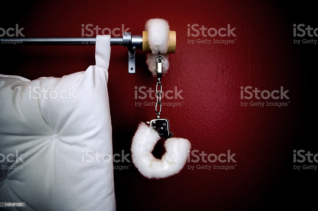 Fluffy cuffs stock photo