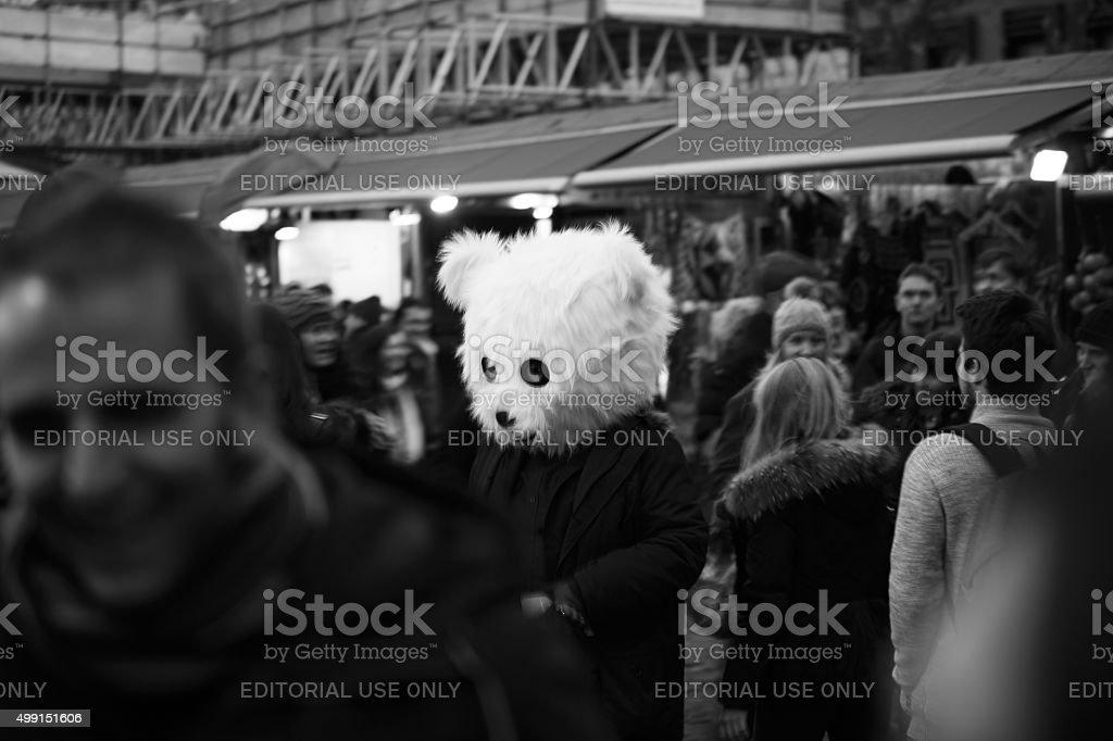 Fluffy head stock photo