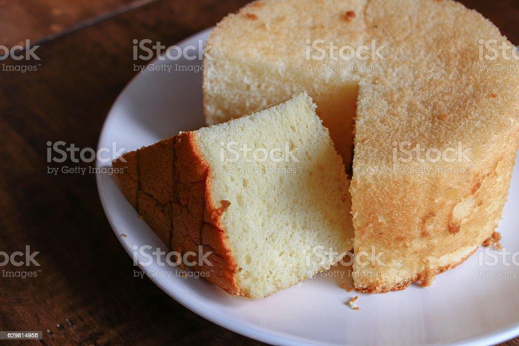 Fluffy Orange Chiffon Cake stock photo