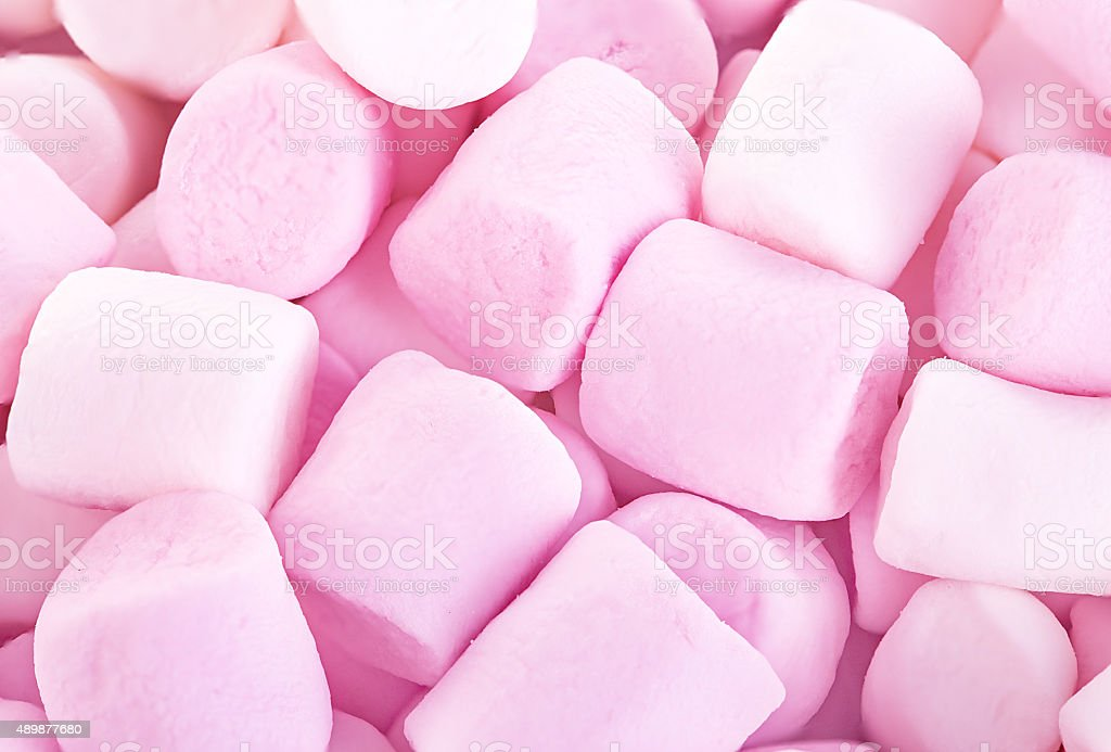 Fluffy Round Marshmallows as a background. Sweet Food Candy Background stock photo