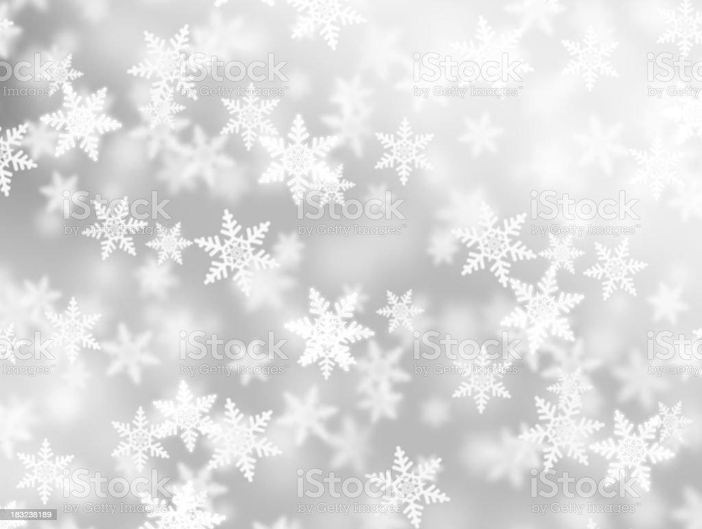 fluffy snowflakes royalty-free stock photo