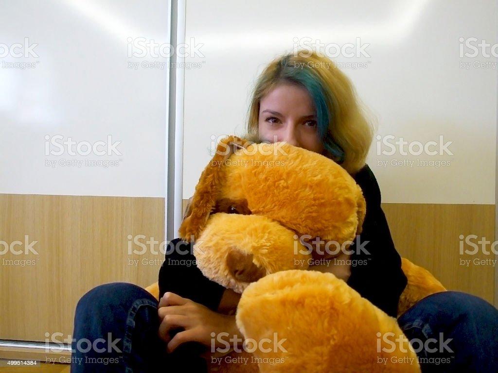 Fluffy toy stock photo