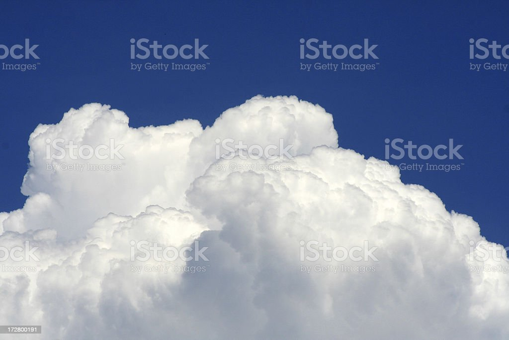 Fluffy white clouds royalty-free stock photo