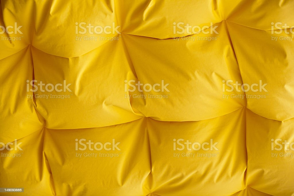 Fluffy yellow ceiling stock photo