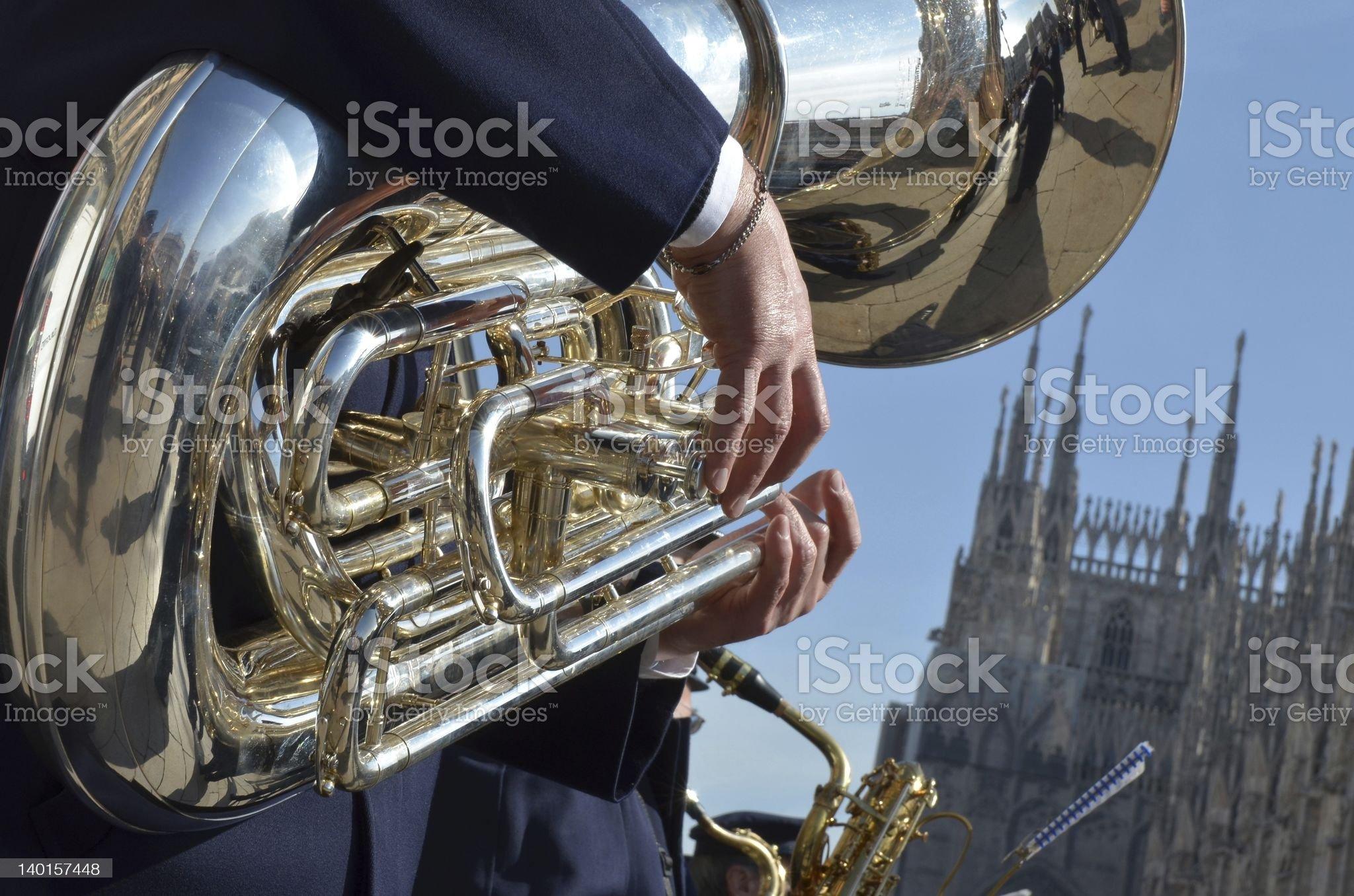 flugelhorn royalty-free stock photo