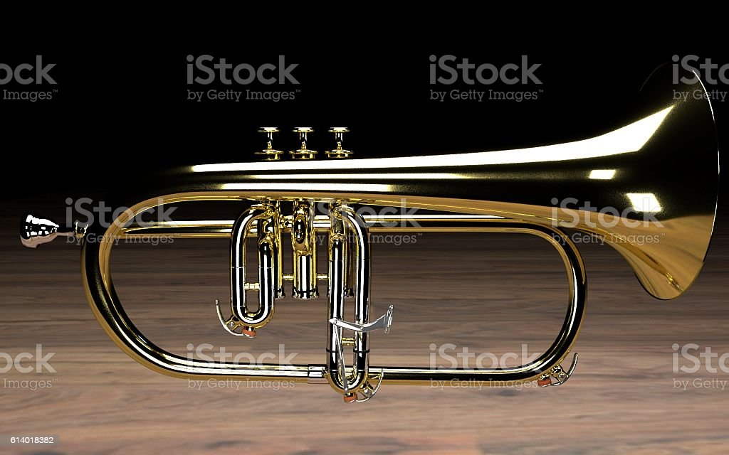 Flugelhorn stock photo