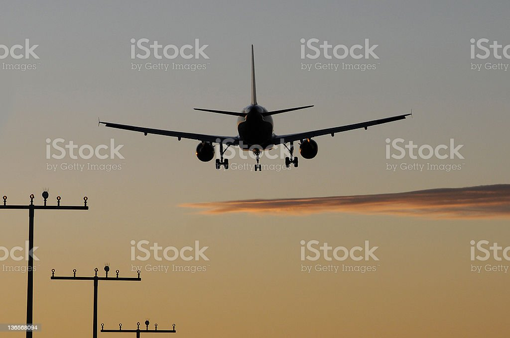 Flugzeug stock photo