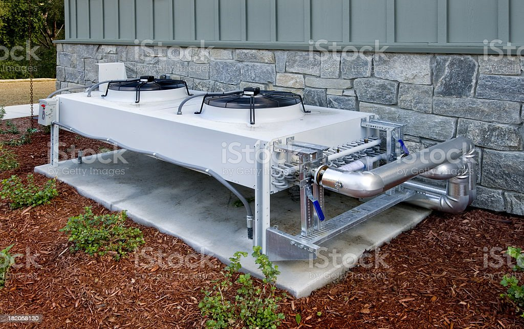 Fluid Heat Exchanger for HVAC System stock photo