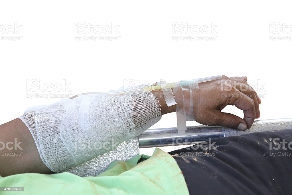 Fluid replacement therapy stock photo