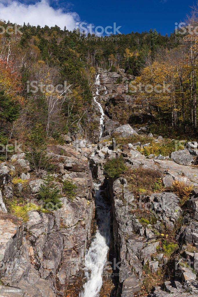 Flume Cascade, Crawford Notch State Park stock photo