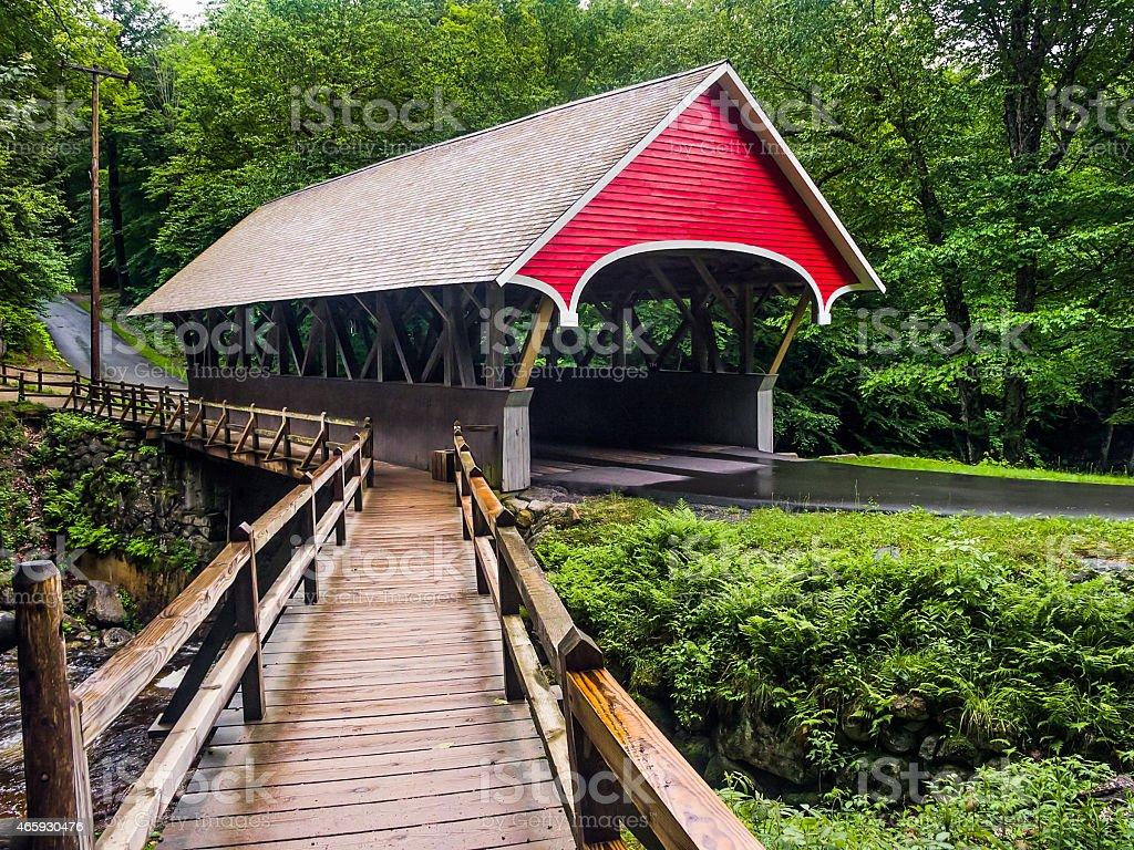 Flume Covered Bridge stock photo