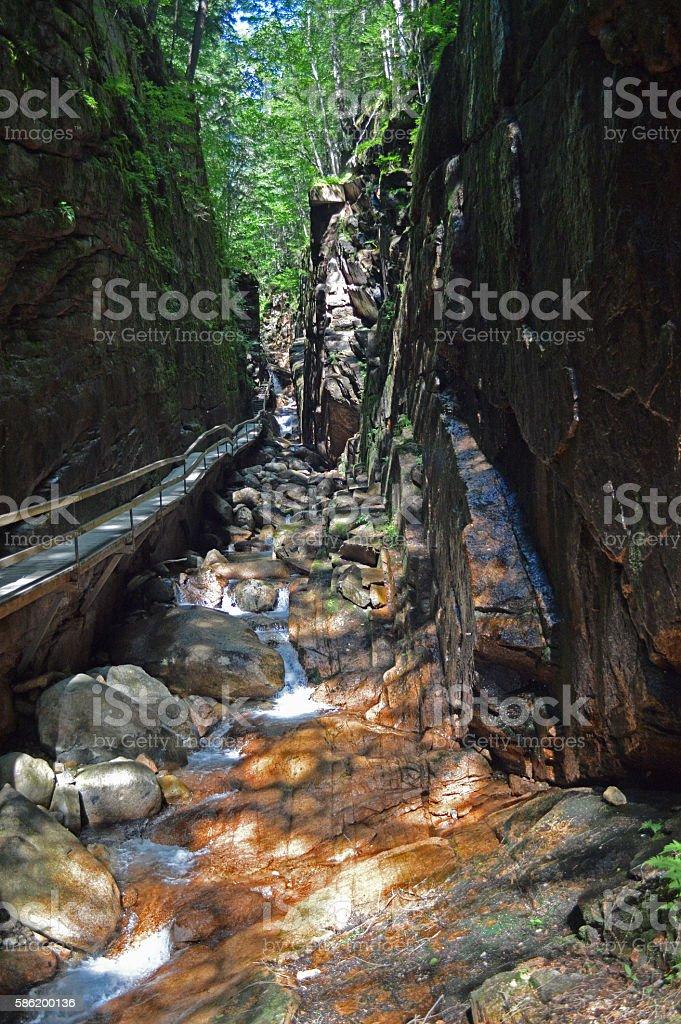 Flume Gorge Walkway stock photo