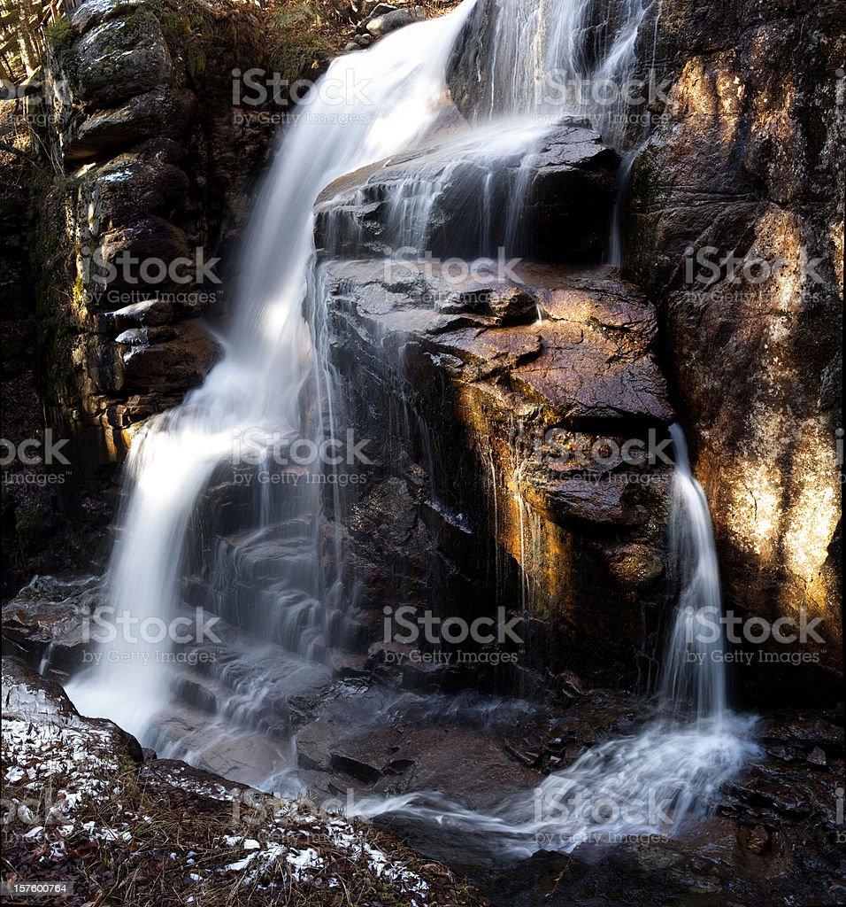 Flume Gorge Waterfall stock photo