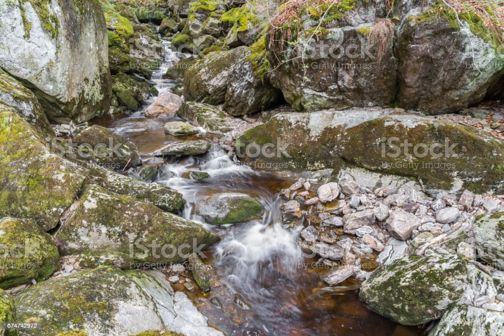 Flume in Spiegelau in the bavarian forest stock photo