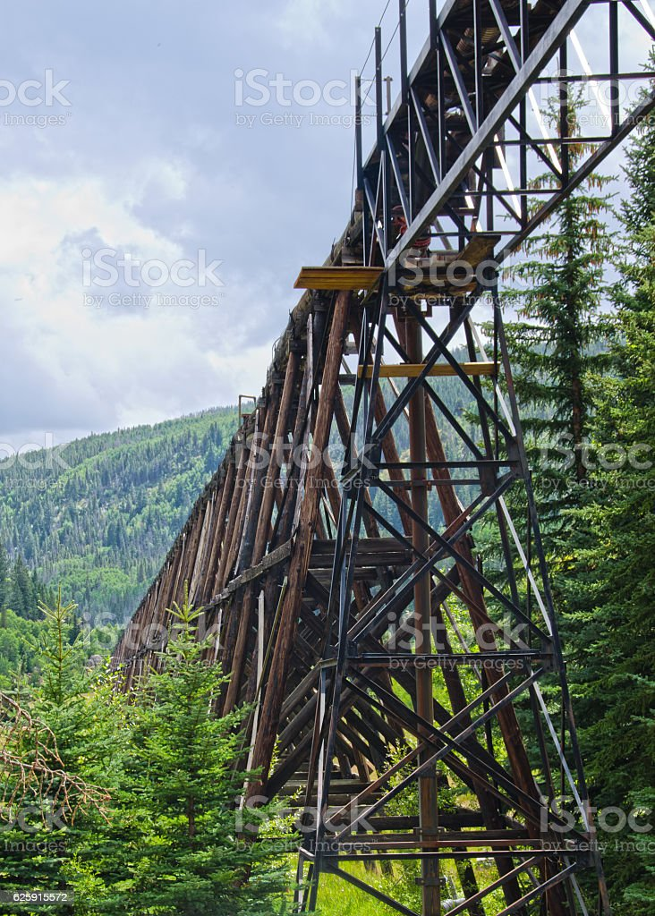 Flume System to Divert Toxic Water stock photo