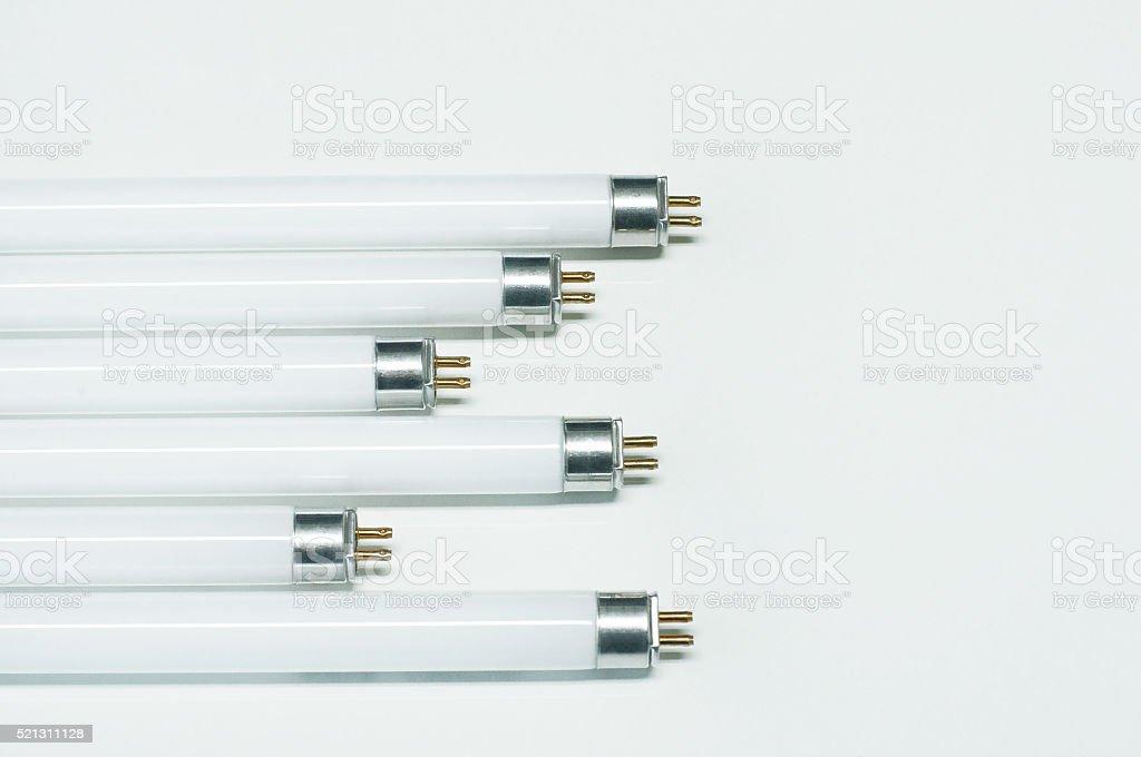 LED fluorescence tube isolated stock photo