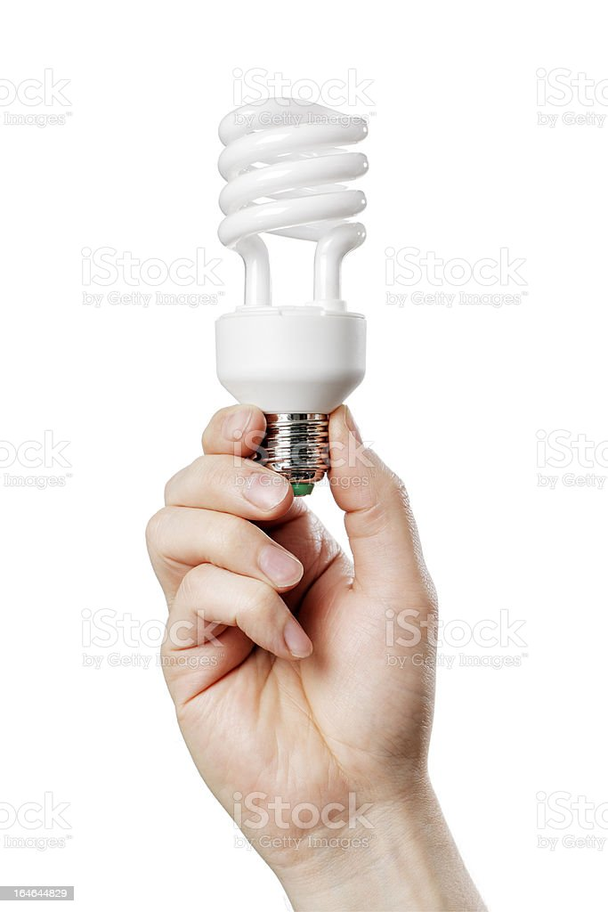 Fluorescent Bulb royalty-free stock photo