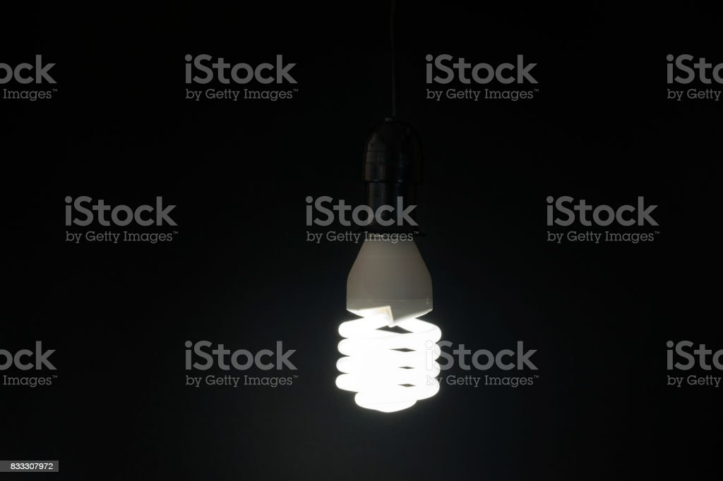 fluorescent lamp with a white light stock photo