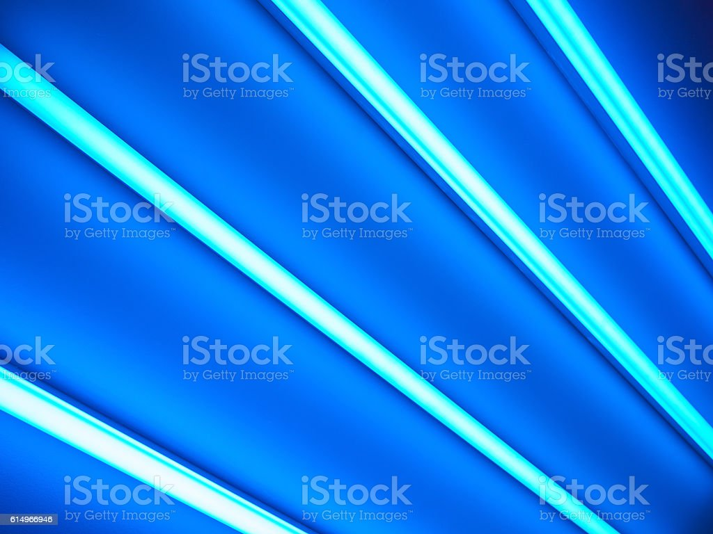 Fluorescent lamps, abstract background stock photo