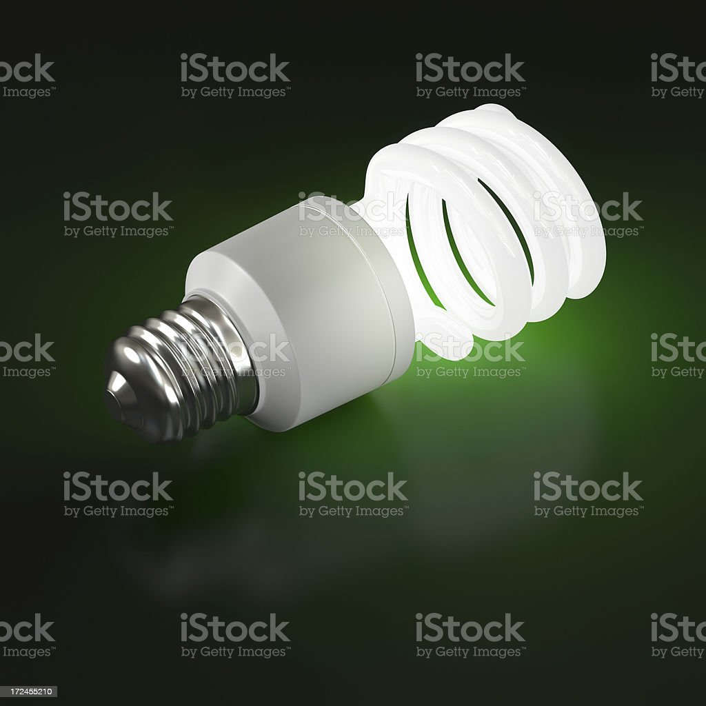 Fluorescent Light Bulb royalty-free stock photo