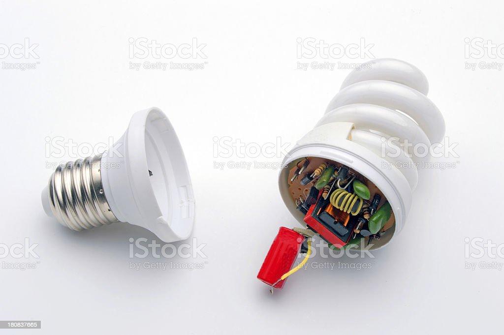 fluorescent light bulb royalty-free stock photo