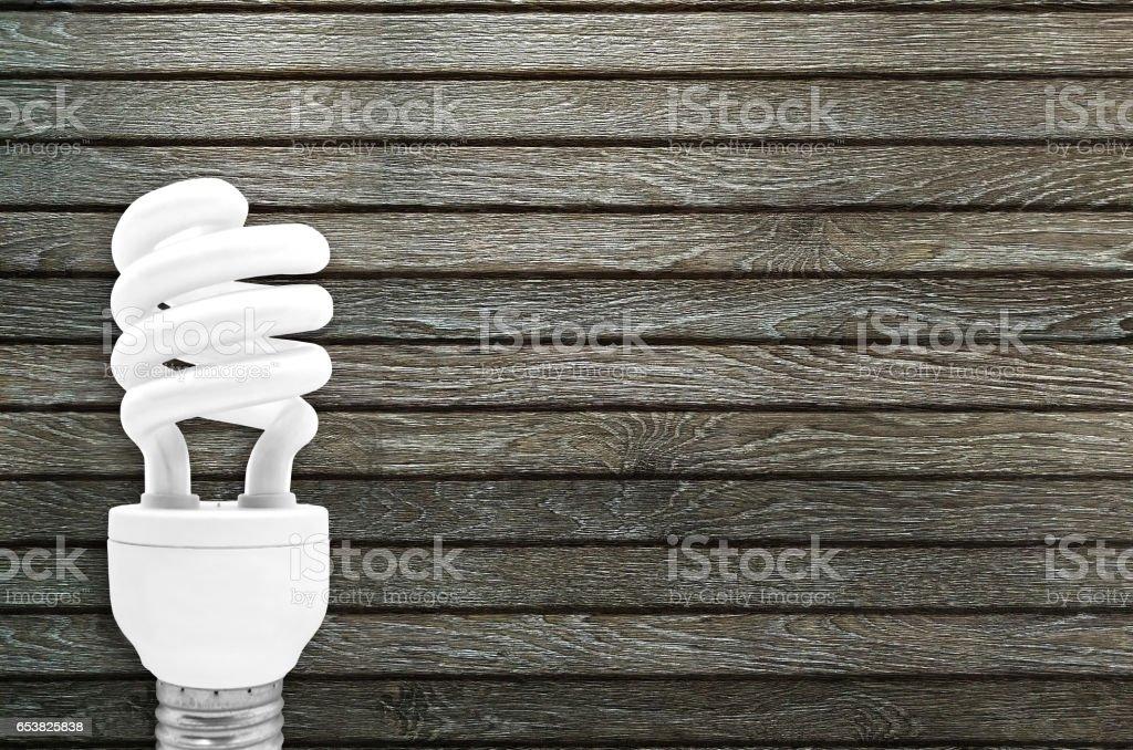 Fluorescent Light Bulb stock photo