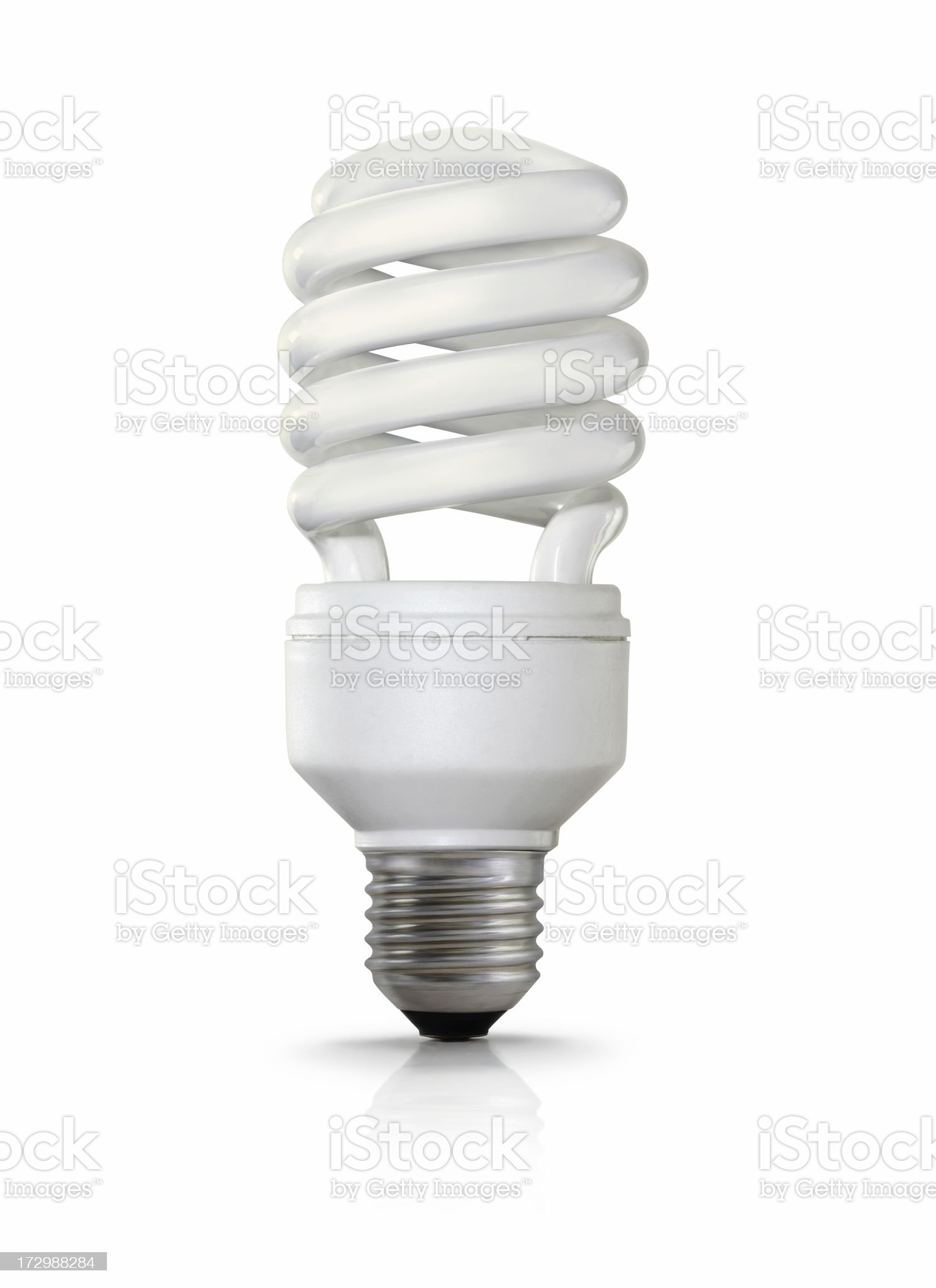 Fluorescent light bulb with a screw fitting royalty-free stock photo