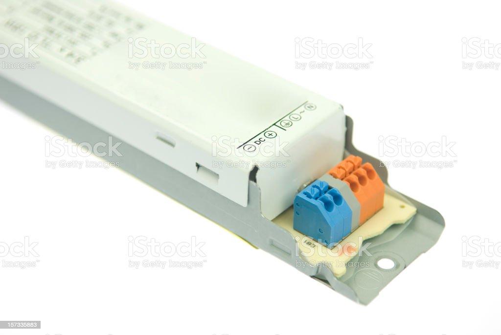 Fluorescent light electronic ballast stock photo