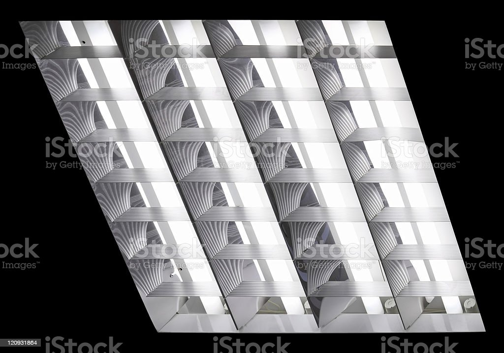 Fluorescent Light with path stock photo