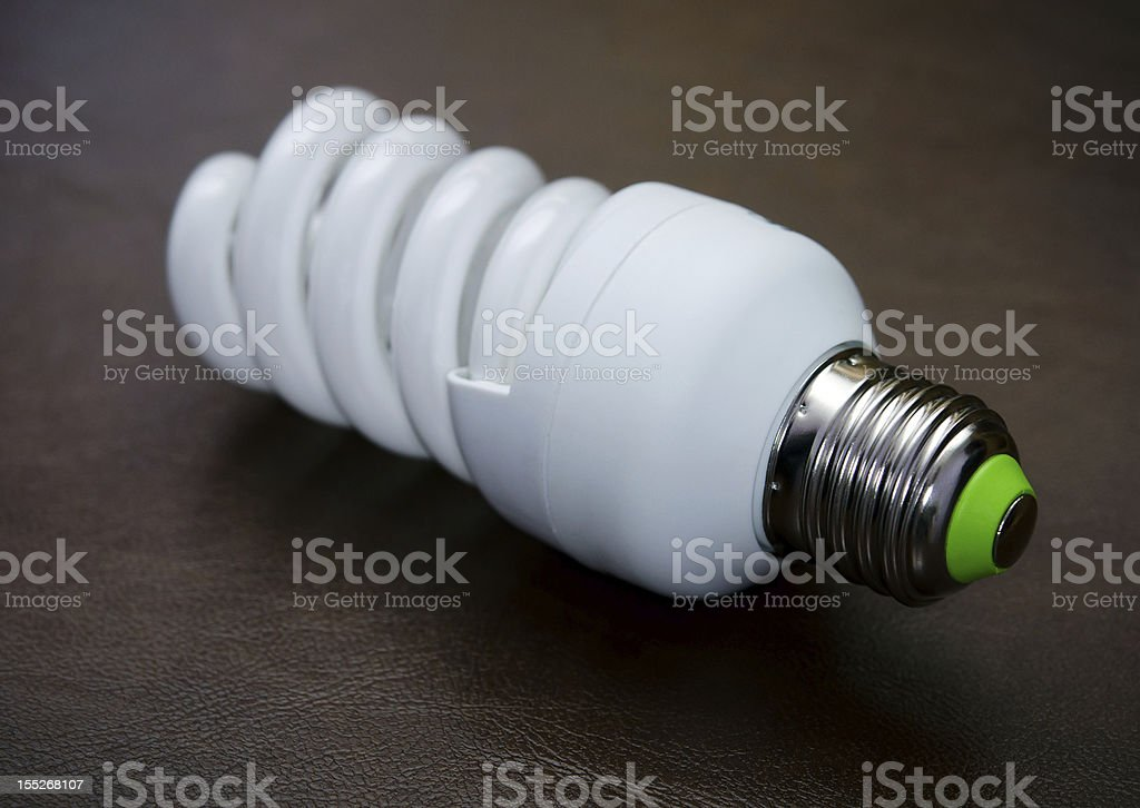 Fluorescent Lightbulb royalty-free stock photo