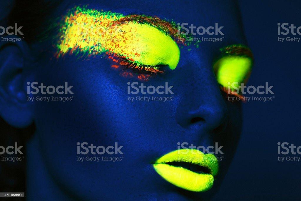 fluorescent portrait stock photo
