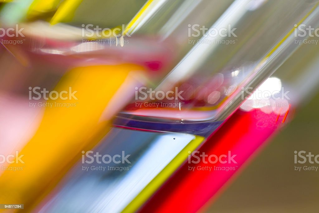 fluorescent test tubes royalty-free stock photo