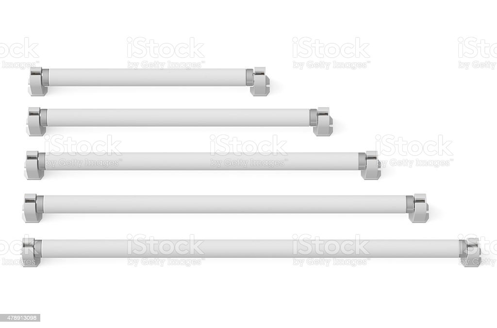fluorescent tube compact lamps stock photo