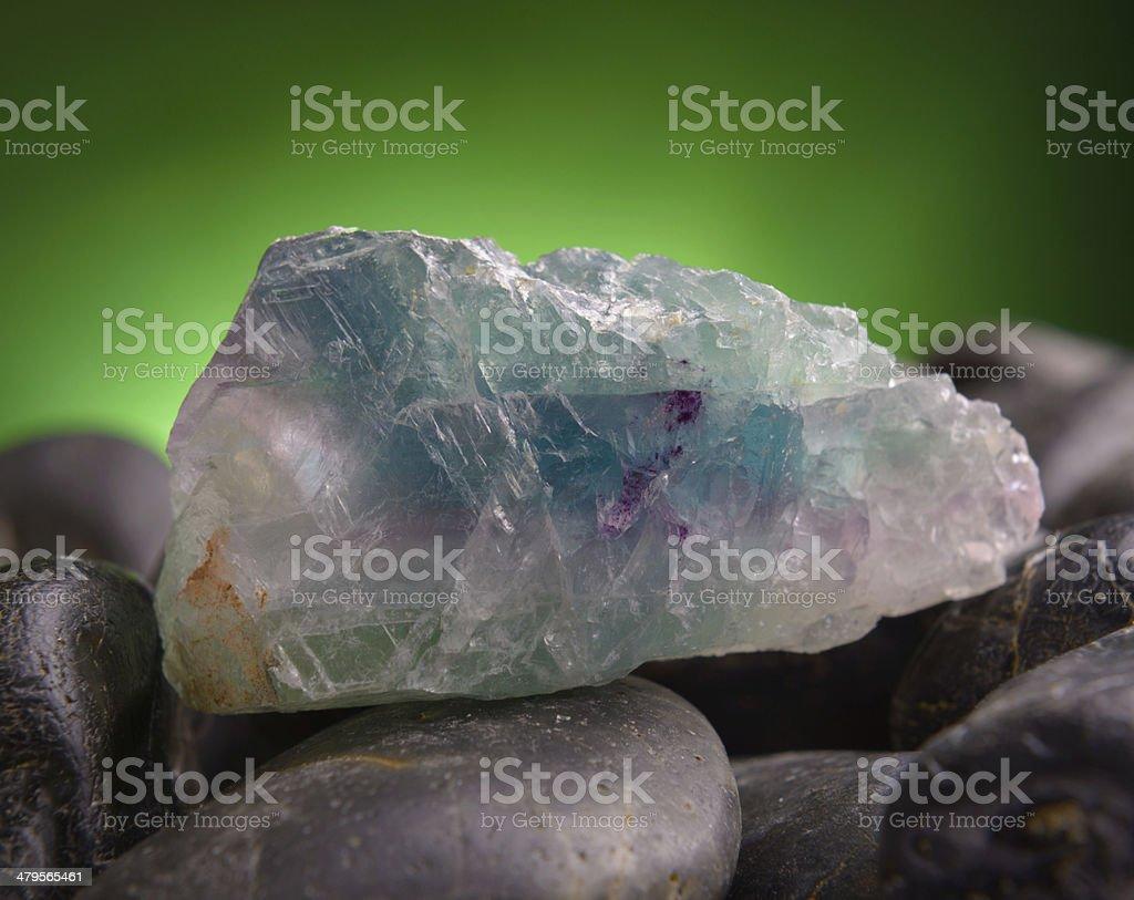 Fluorite also called fluorspar stock photo