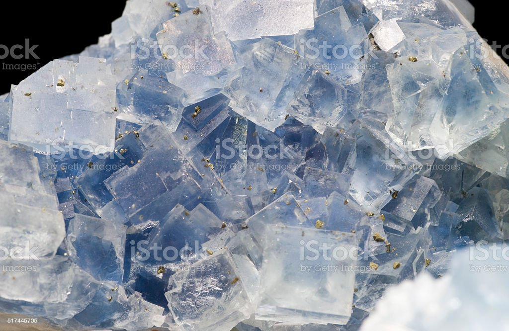 Fluorite and quartz from France. stock photo