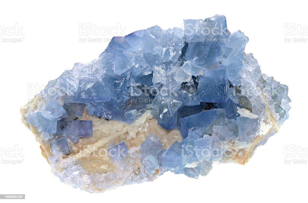Fluorite - Blue Sky stock photo
