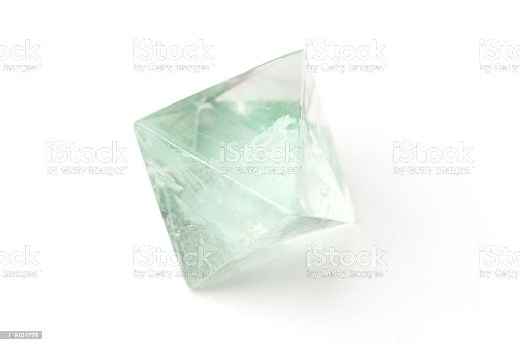 Fluorite crystal stock photo