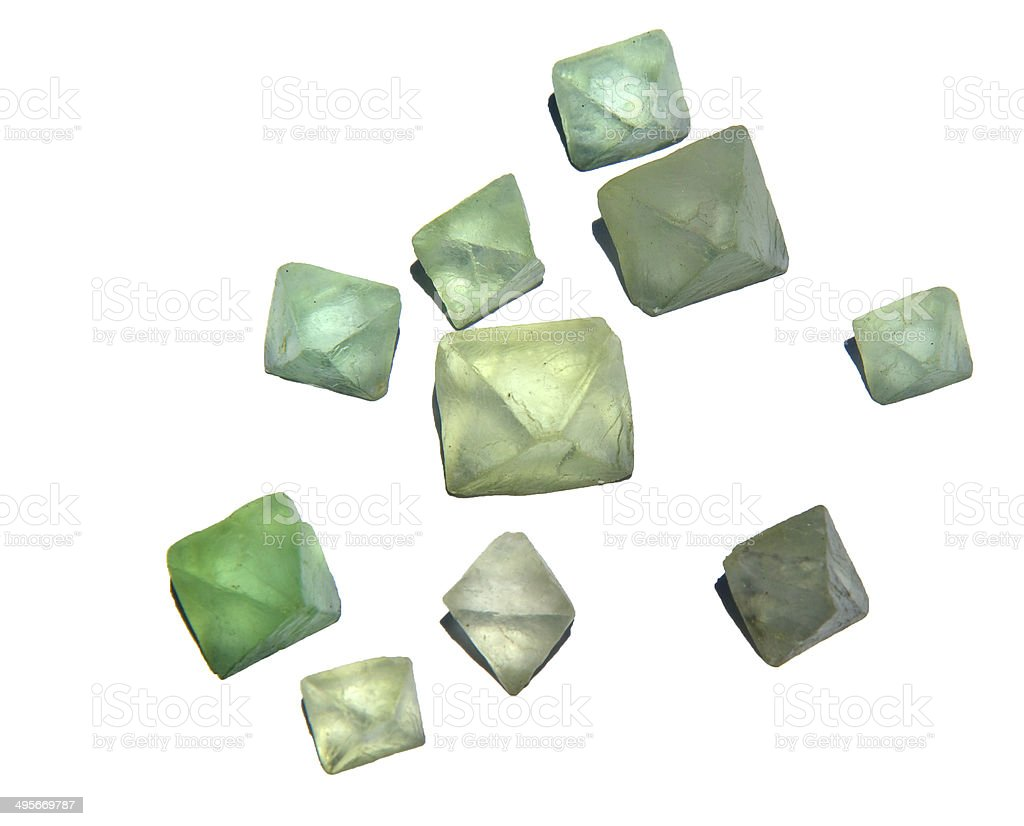 Fluorite crystals stock photo