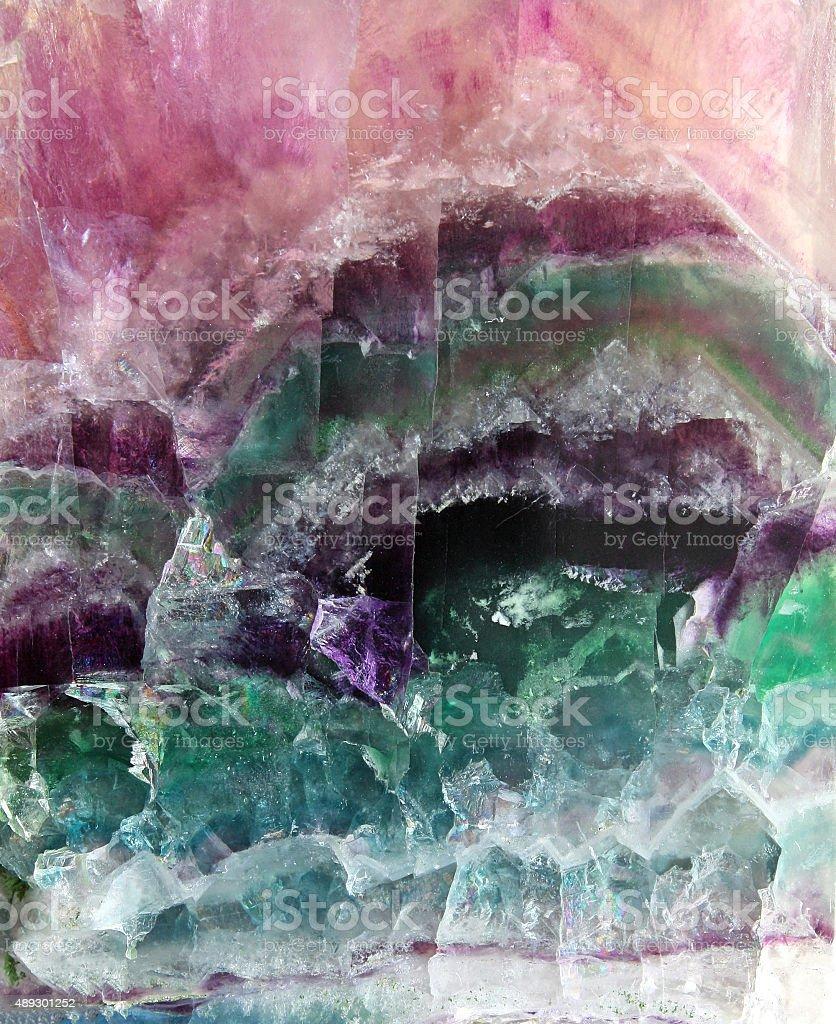 Fluorite pattern stock photo