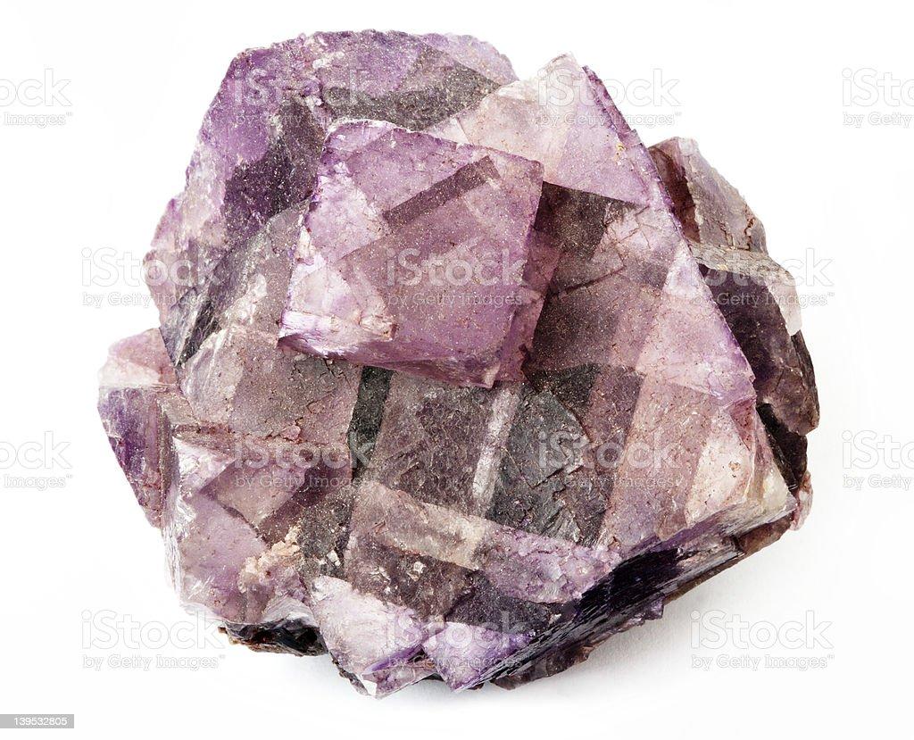 Fluorite Purple stock photo