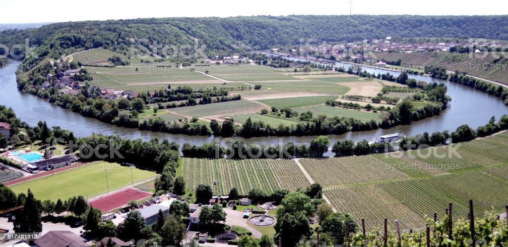 Flußschleife in Süddeutschland stock photo