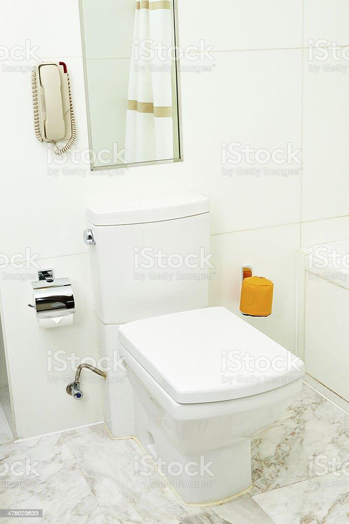 Flush Toilet royalty-free stock photo